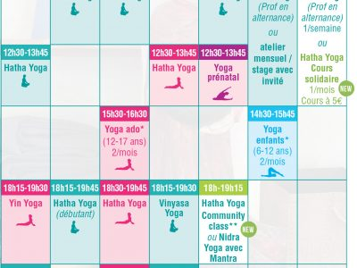 planning cours yoga bordeaux 2018