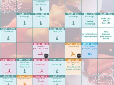 Planning des cours de yoga à bordeaux 2016/2017